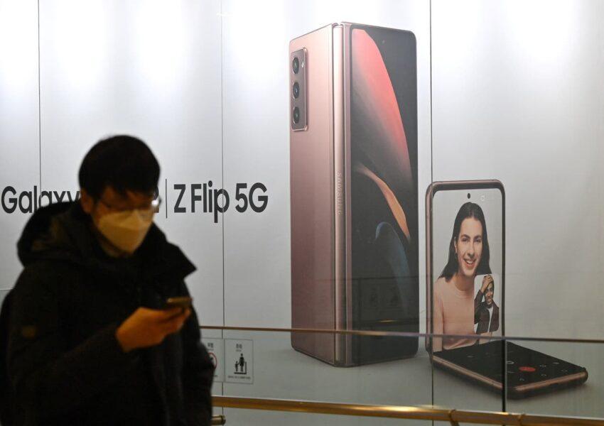 El próximo teléfono plegable de Samsung se doblará el doble